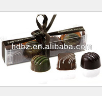 custom made Clear Plastic Chocolate Packaging Box