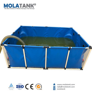 Molatank Foldable Home Half Round Fish Farming Tank Aduaculture