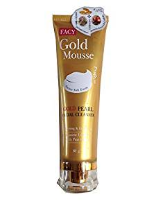 Beauty Set : 2 Units of Facy : Gold Mousse Gold Pearl Facial Cleanser Whitening & Exfoliating 80g.(2.82 Oz.) Best Seller of Thailand [Free Facial Hair Epicare Spring A1Remover]