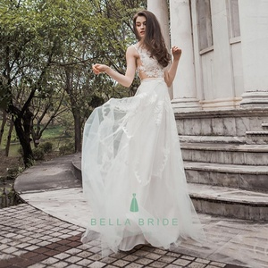 Latest decent beach wedding dresses bridal party gown ivory lace wedding guest dresses bride anniversary dresses for sale