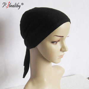 P-Healthy Newest design collection of omani plain Jersey cap at wholesale price hijab