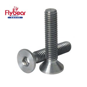 Hot selling M3-M24 DIN7991Hexagon socket countersunk head cap screws hastelloy c276 bolts nuts screws