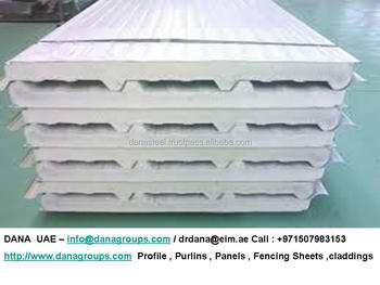 Insulated Sandwich Pu Panels For Roof Wall Ceiling Floor
