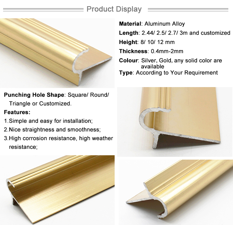 Tiles and Building Material Decorative Aluminum Stair Nosing Strip