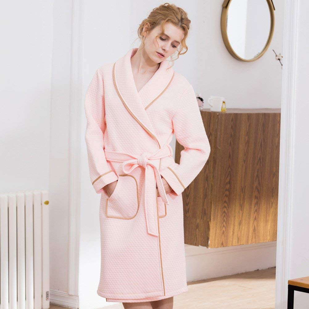 76cf6cc68d Bathrobe Men And Women Bathrobes Couples Shawl Collar Robe Flannel Hotel  Spa Autumn And Winter Pajamas