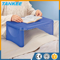 Plastic Storage Folding Lap Desk, Mini Plastic Folding Computer Desk, Laptop Desk Bed