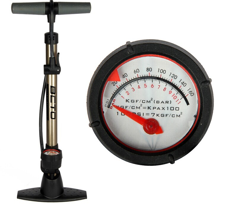 Get Quotations · 2015 Bike Air Floor Pump Cycling Beto,Bicycle Tire Pumps  With Pressure Gauge Schrader Presta
