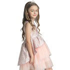 Fashion pink cute princess baby children baby flower girl dress patterns