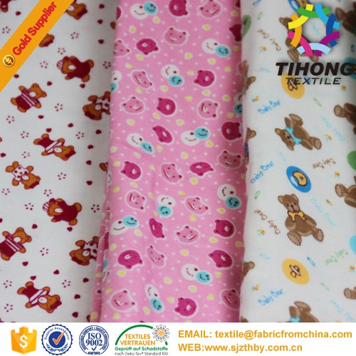 custom printed flannel hospital bed sheets fabric 100% <strong>cotton</strong>