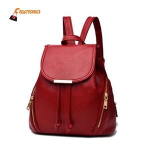 Vintage PU Leather Backpack Bags School Women 2019 China Wholesale Backpacks