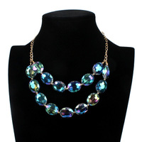 Hot Sale Personality Statement Necklace Vintage Crystal Rhinestone Exaggerate Necklace