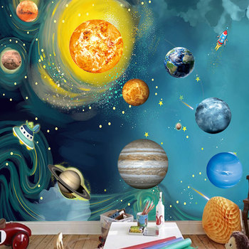 Solar System Nine Planets 3D Luminous Glow in the Dark Stickers