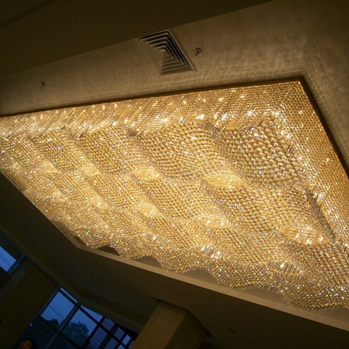 modern water wave shaped beaded chandelier K9 crystals made in China