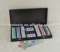Gambling poker chips set,portable poker game box