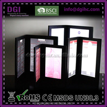 illuminated backlit menu holder electronics leather led light bar display stand backlit menu