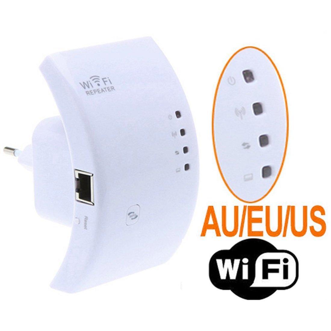 VAlinks(TM) Wireless-n Wifi Repeater 802.11n/b/g Network Router Range Extender 300m 2dbi Antennas Signal Boosters