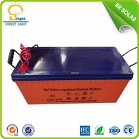 Popular 12V 100ah rechargeable mf deep cycle gel ups battery for solar