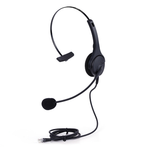 Professional Binaural or monaural Noise cancellation RJ11 headset telephone headset for call center