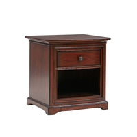 F40203A-1Customized antique solid wood end table small square side table for living room