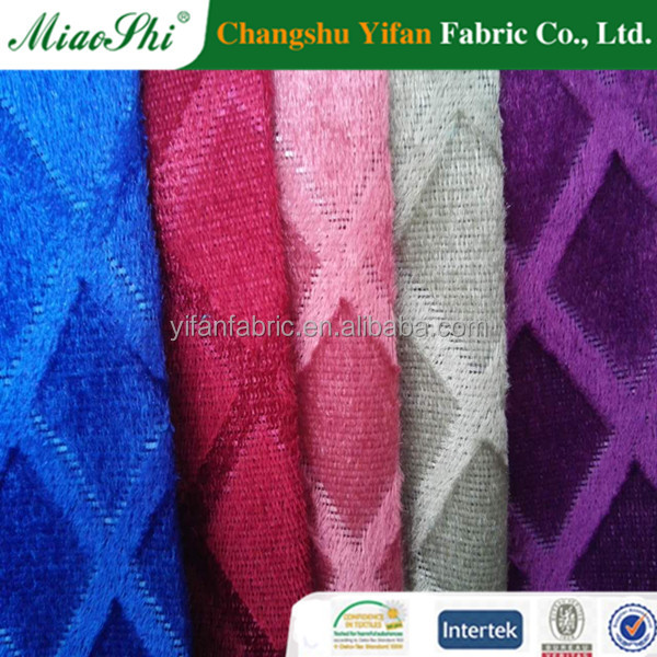Changshu Factory direct Sale 100% Polyester Mercerized Tricot Brushed Knitted Fabric For Sofa