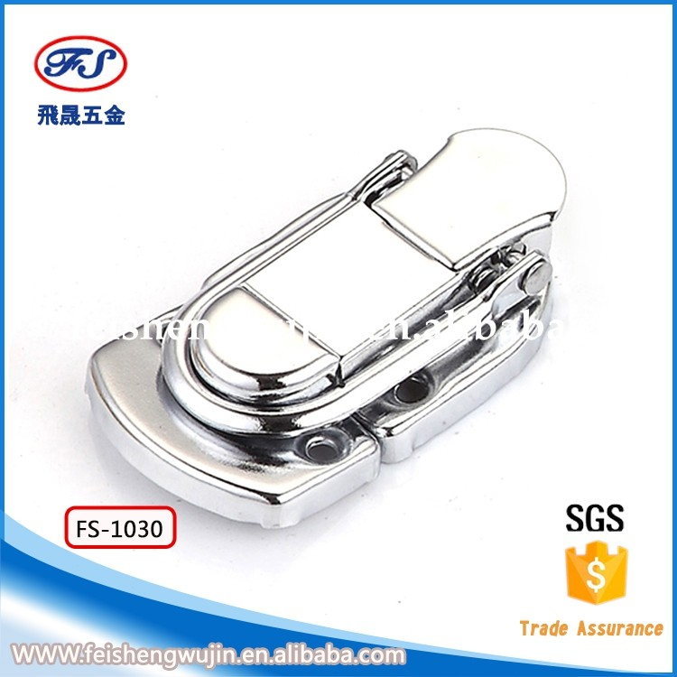 FS-1030 Silver draw latch hardware Lock Latch for Jewelry Case Boxes