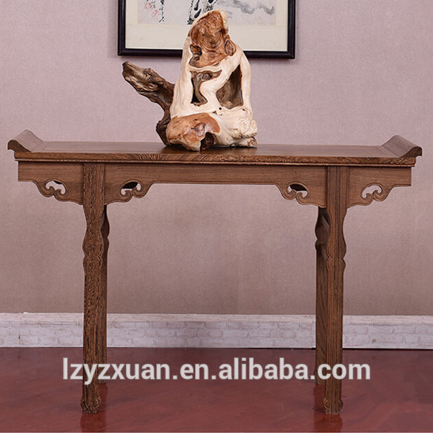 high quality black wood sofa table