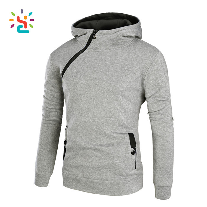 Personalized two pockets Sweatshirt Inclined zipper cropped Hooded lady women's zip up pullover young hoodie wholesale