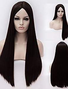 Wigs have an attractive convenience fashion European And American High-Temperature Black Silk Long Straight Hair wig Fashion Girl Necessary