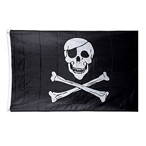 [Free Shipping] 5*3 ft. Jolly Roger Skull Pirate Flag // 5 * 3 ft. Rogelio alegre bandera pirata del cráneo