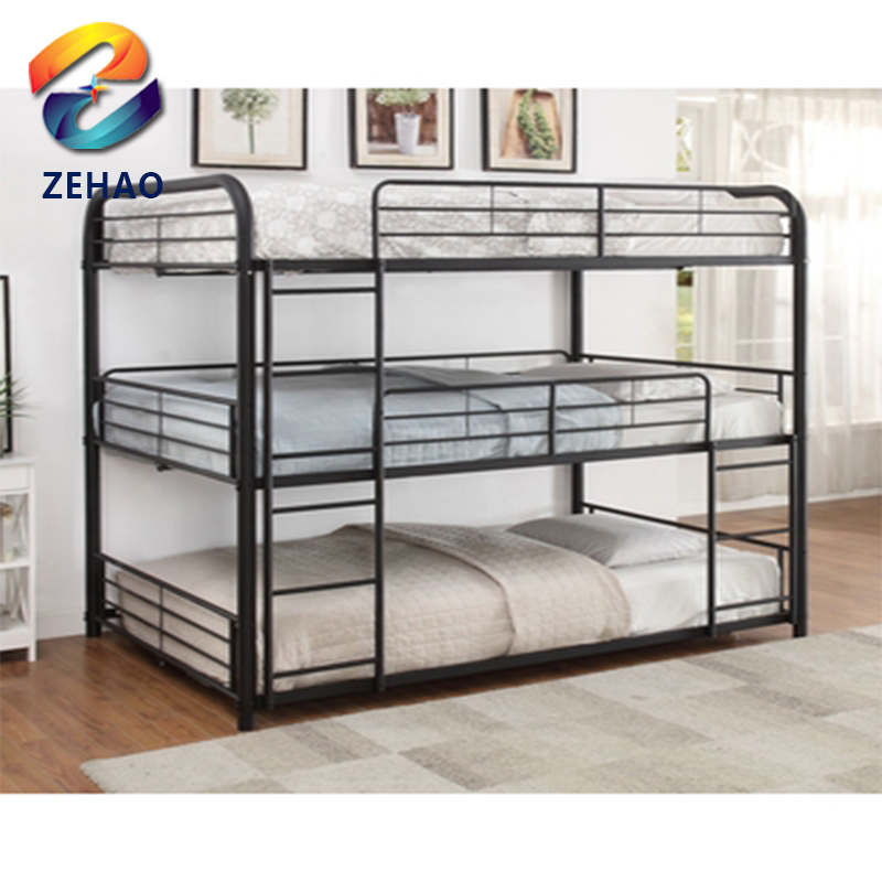 Hotel army triple bunk <strong>bed</strong> for sale black red white silver color metal bunk <strong>bed</strong>