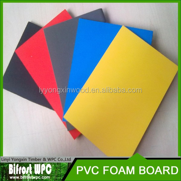 2017 linyi factory sell 18mm pvc foam core board pvc forex board , 18mm pvc foam core board for construction for slab formworks
