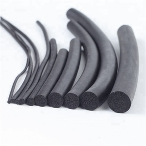 Round rubber foaming sealing strip