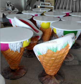 Ice Cream Theme Furniture Table And Chairs