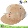 Cheap wholesale custom embroidered blank corduroy flat brim snapback cap