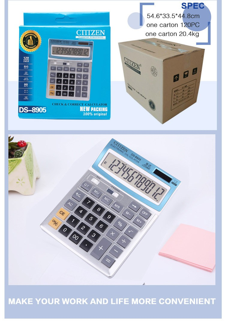 professional custom multifunction 12 digit electronic calculator