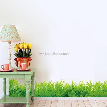 Sk7015 Erba Verde Wall Decals/adesivi Battiscopa Angolo Adesivi Murali  Camera Da Letto Casa Adesivi Decorativi - Buy Erba Verde Wall ...