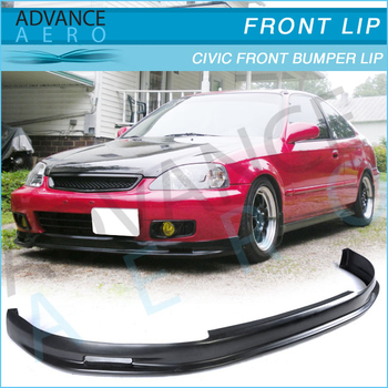 FOR 99 00 EK HONDA CIVIC MUGEN URETHANE FRONT BUMPER LIP SPOILER BODY KITS