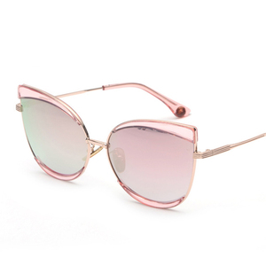 2018 New Arrival Oversized Cateye Fashion Women Sunglasses Gradient Candy Color Film Coating European Style sunglasses
