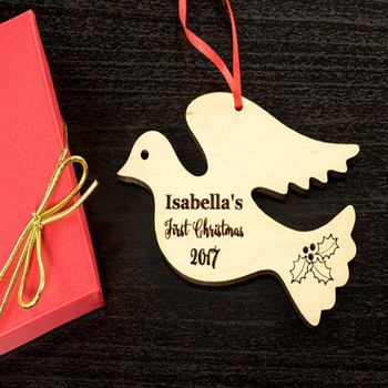 Personalized baby gift wood dove christmas tree ornament buy personalized baby gift wood dove christmas tree ornament negle Image collections
