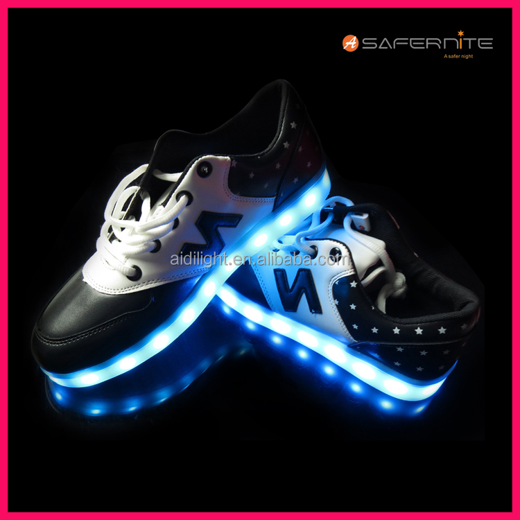 Smart Music Control Shoes Shining Recharging Waterproof USB Shoe xYa4Ow