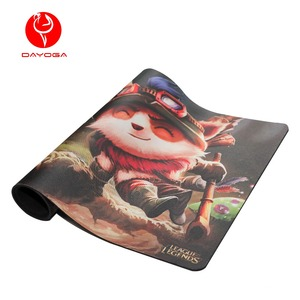 Locking Edge Fancy Printing Rubber Mousepad, Comfortable Feel Mouse Mat For LOL