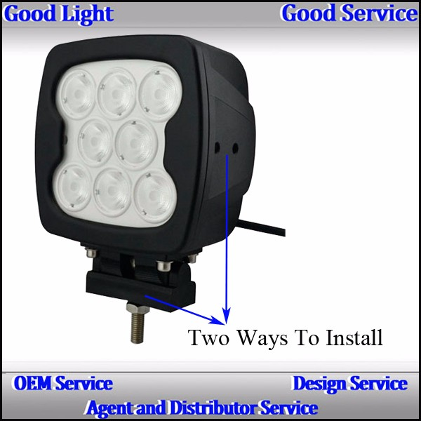 auto lighting system work led light 80w led work light waterproof IP 67 off road led car spotlights for J-eep truck 4x4