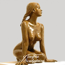 Hot Selling China Life Size Vrouw Bronzen <span class=keywords><strong>Sculptuur</strong></span> <span class=keywords><strong>Naakt</strong></span>