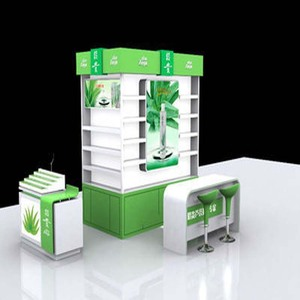 Fashion high quality store window display furniture and cosmetic kiosk showcase