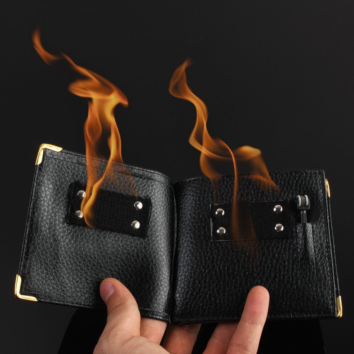 Magic Trick Flame Wallet Street Show