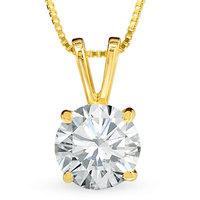 1 CT. Diamond Solitaire Pendant in 24K Gold (H-I/SI1-SI2)