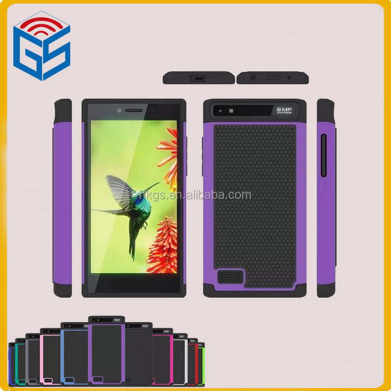 PC Silicone Hybrid Hard Protective Back Phone Cover Case For Blackberry Leap Z20