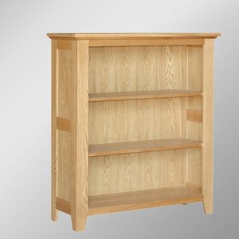 301 Range Solid Oak 2 Layers Bookshelf Wood Wide Bookcase