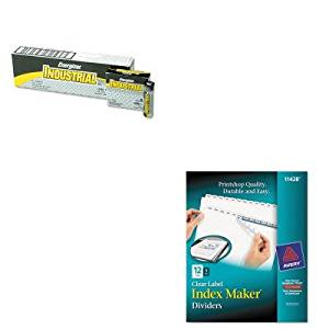 KITAVE11428EVEEN91 - Value Kit - Avery Index Maker Clear Label Dividers (AVE11428) and Energizer Industrial Alkaline Batteries (EVEEN91)