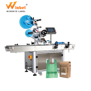 automatic flat label applicator machine for plastic bag paper pouch with date coder